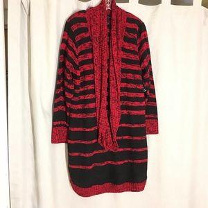 Derek Heart Red and Black Sweater Dress Size 3X